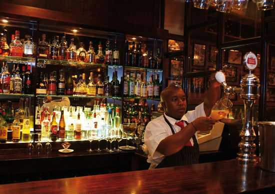Enjoy a drink at the bar - Hussar Grill, Cape Town