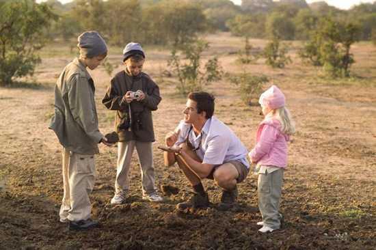 Children on Safari in Africa