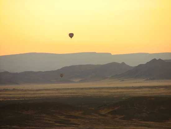 Balloon over Namibia