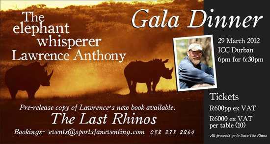 Gala dinner details
