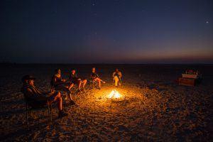 Campfire stories in Botswana
