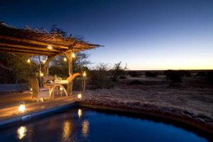 Enjoy dinner on Tswalu Motse's deck