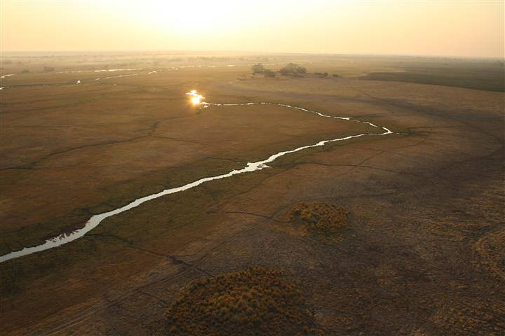 Aerial view from a hot air balloon over Zambia. Photo Credit: Samantha Myburgh
