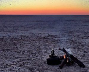 Mgadaigadi Salt Pan at Dawn