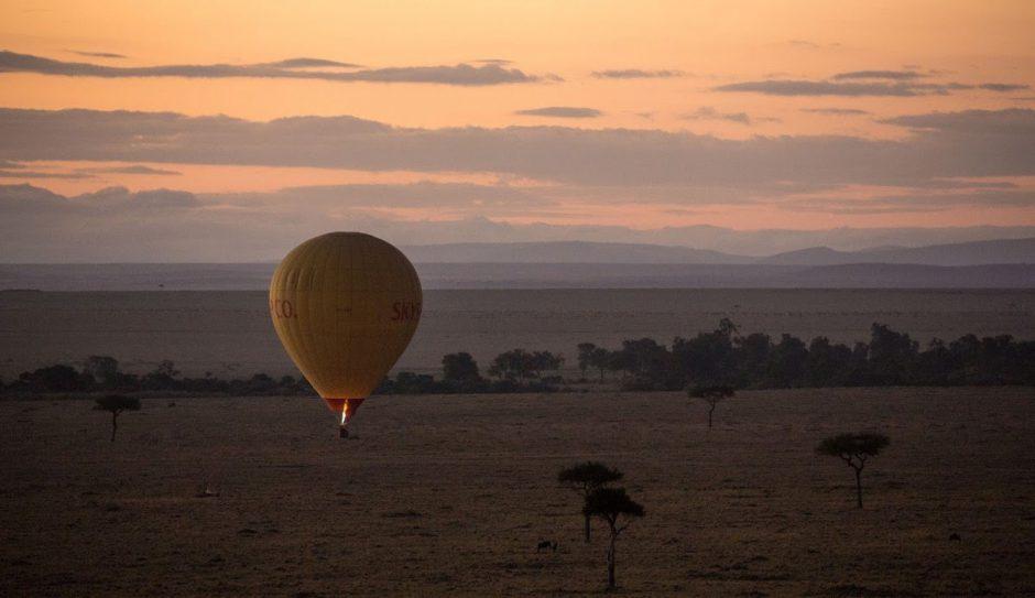 Vue depuis le ciel sur le Serengeti