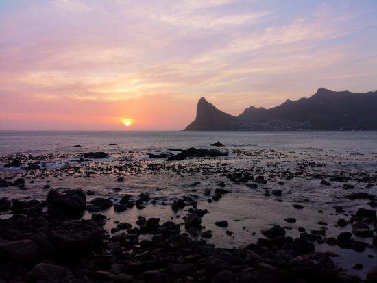 Sonnenuntergang bei Kapstadt