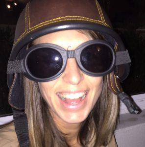 Daniela Fraser in flight gear