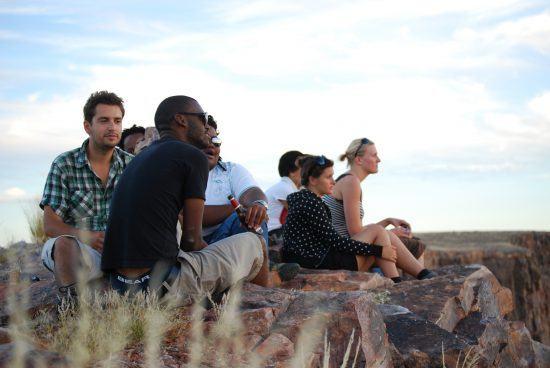 Peggy et ses amis au Fish River Canyon en Namibie