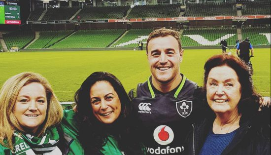 Lions Rugby Tour 2021: Tara Beckett and her family at the stadium